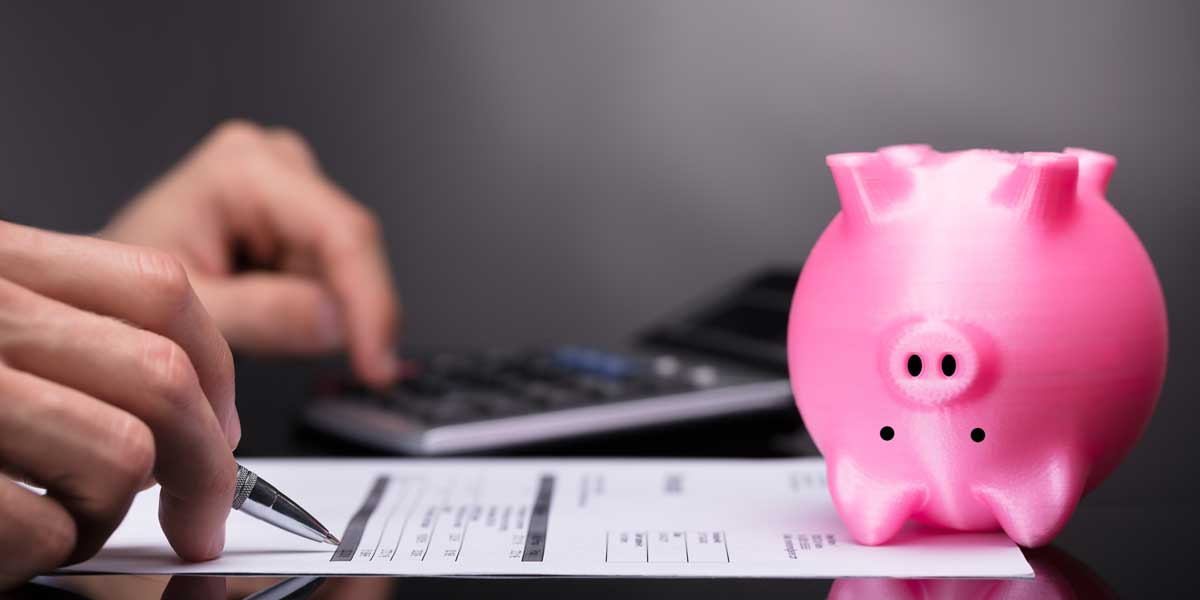 piggy bank on financial aid form